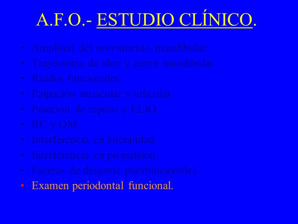A.F.O.- ESTUDIO CLÍNICO. Amplitud del movimiento mandibular.