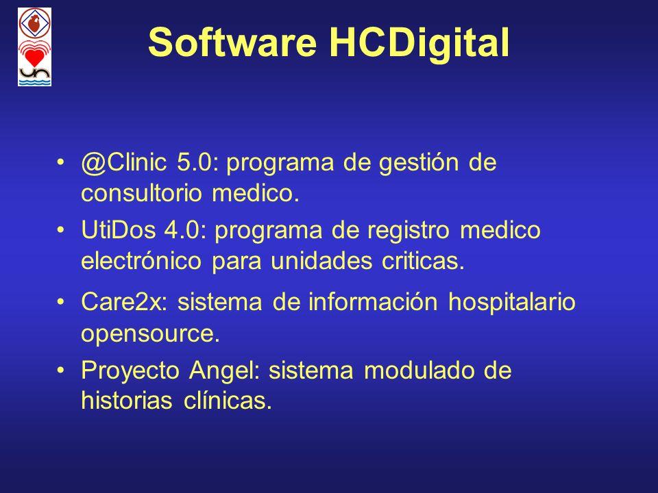 Software HCDigital@Clinic 5.0: programa de gestión de consultorio medico.