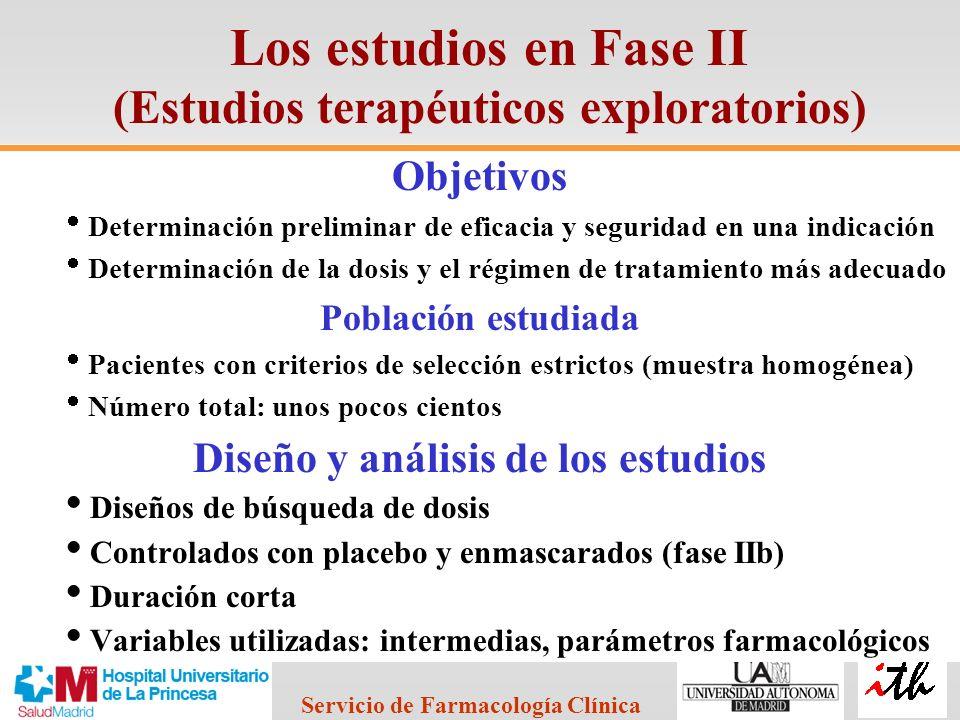 Los estudios en Fase II (Estudios terapéuticos exploratorios)