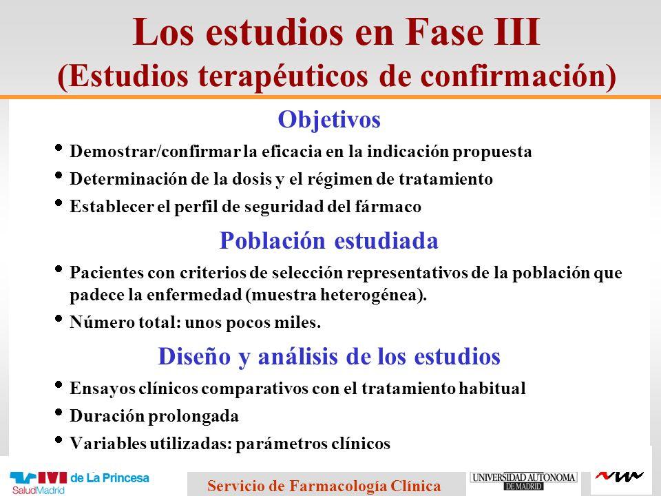 Los estudios en Fase III (Estudios terapéuticos de confirmación)