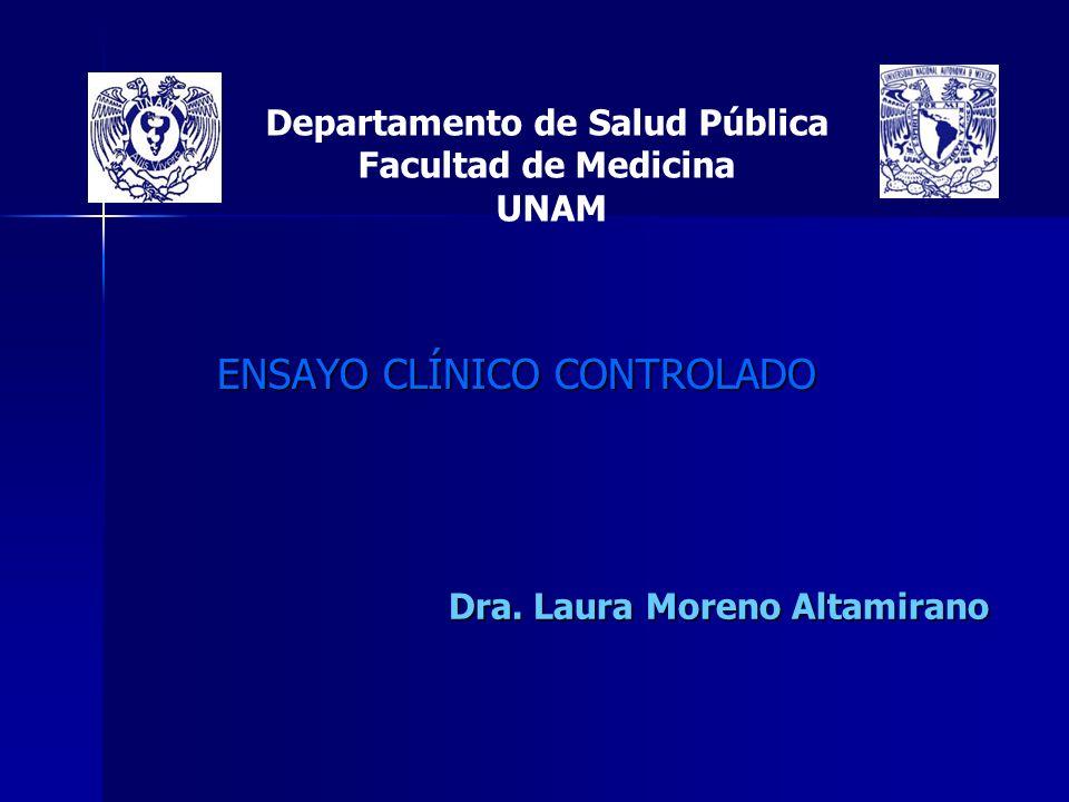 Departamento de Salud Pública Facultad de Medicina UNAM