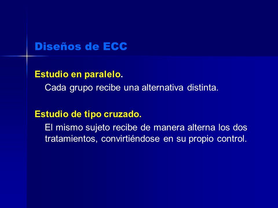 Diseños de ECC Estudio en paralelo.