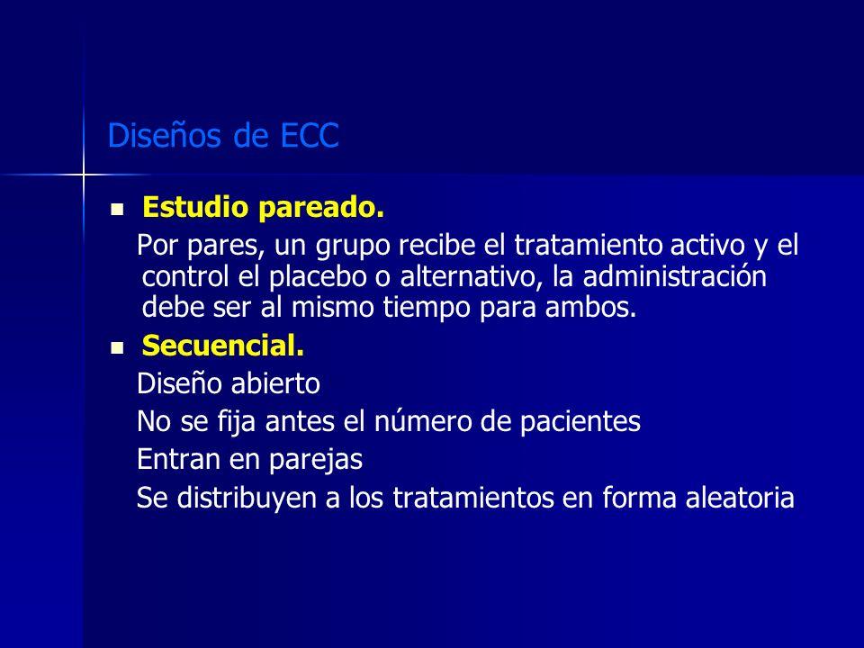 Diseños de ECC Estudio pareado.