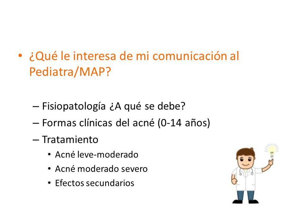 ¿Qué le interesa de mi comunicación al Pediatra/MAP