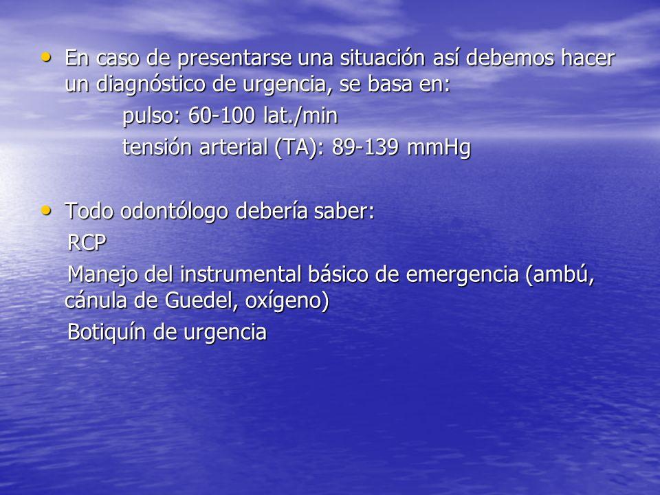 En caso de presentarse una situación así debemos hacer un diagnóstico de urgencia, se basa en: