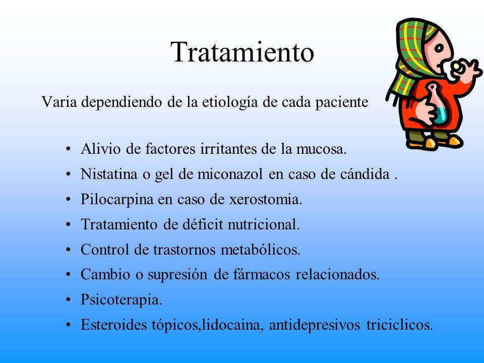 Tratamiento Varia dependiendo de la etiología de cada paciente