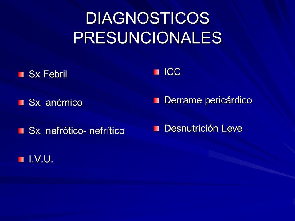 DIAGNOSTICOS PRESUNCIONALES
