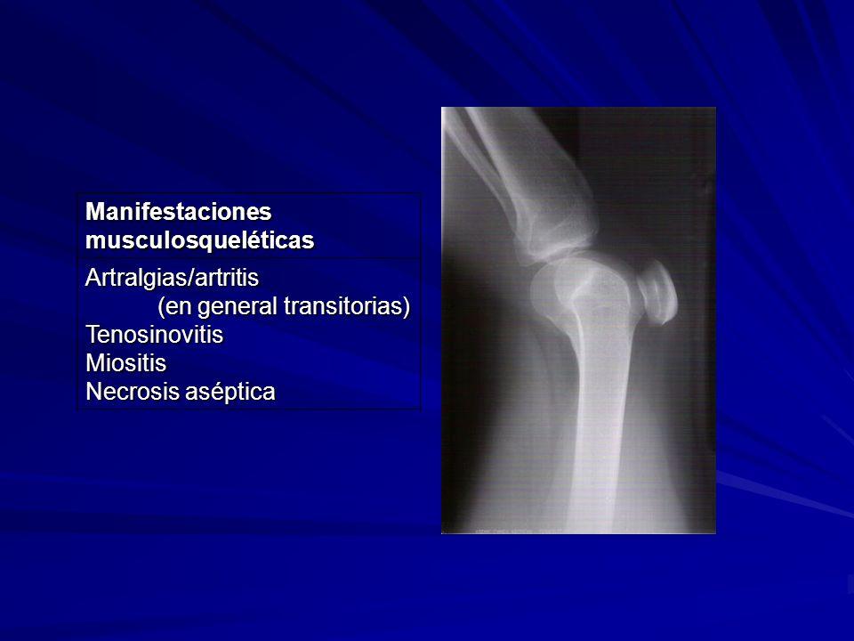 Manifestaciones musculosqueléticas