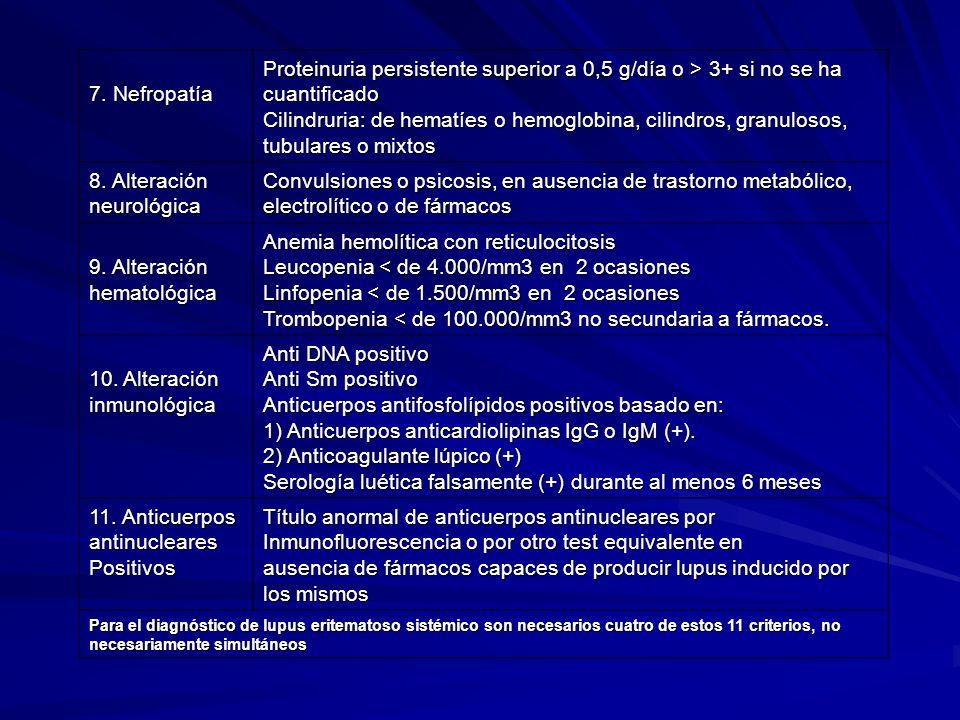 8. Alteración neurológica
