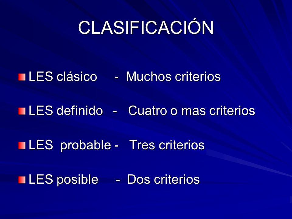 CLASIFICACIÓN LES clásico - Muchos criterios