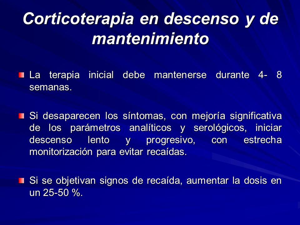 Corticoterapia en descenso y de mantenimiento