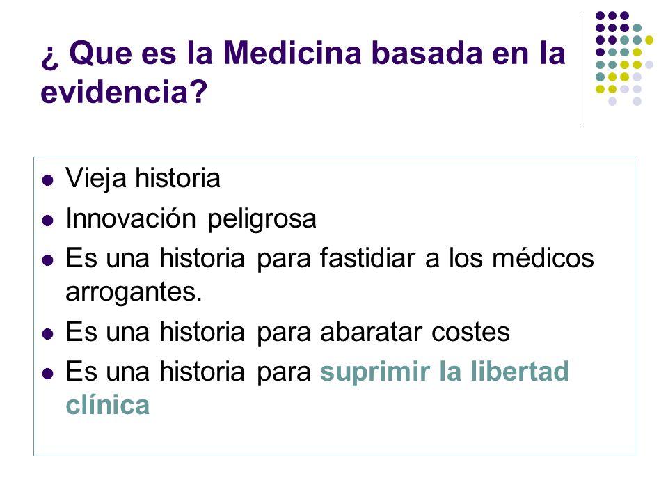 ¿ Que es la Medicina basada en la evidencia