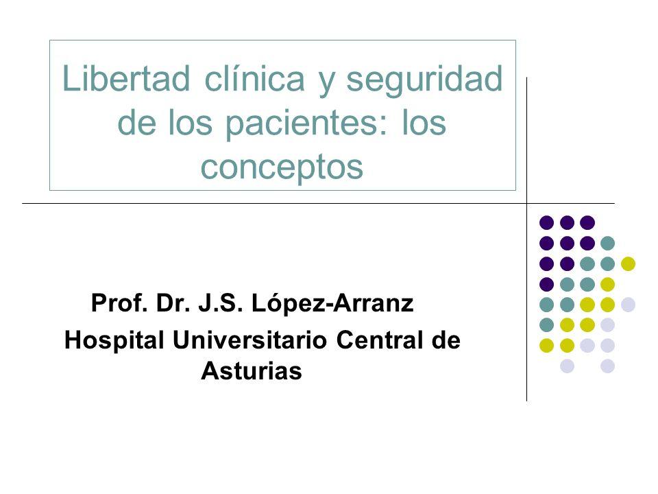 Libertad clínica y seguridad de los pacientes: los conceptos