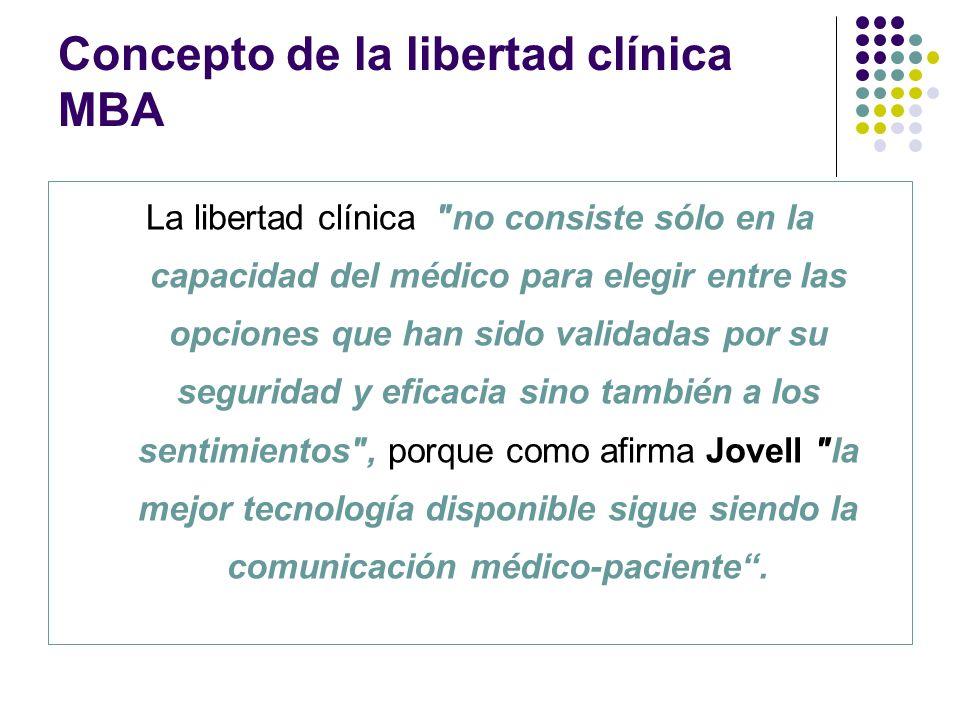 Concepto de la libertad clínica MBA