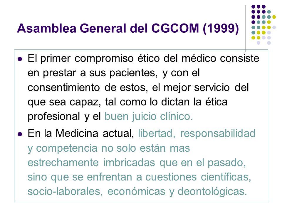 Asamblea General del CGCOM (1999)