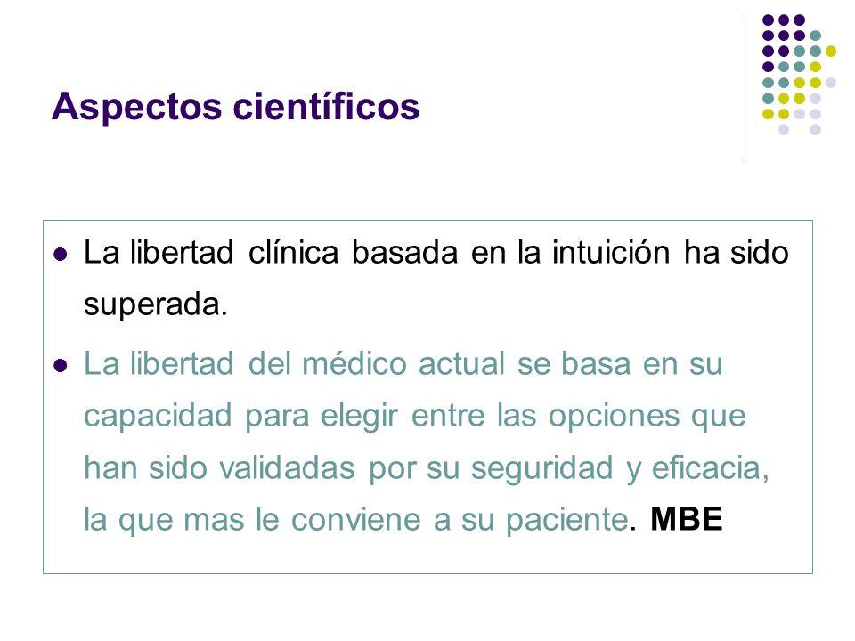 Aspectos científicos La libertad clínica basada en la intuición ha sido superada.