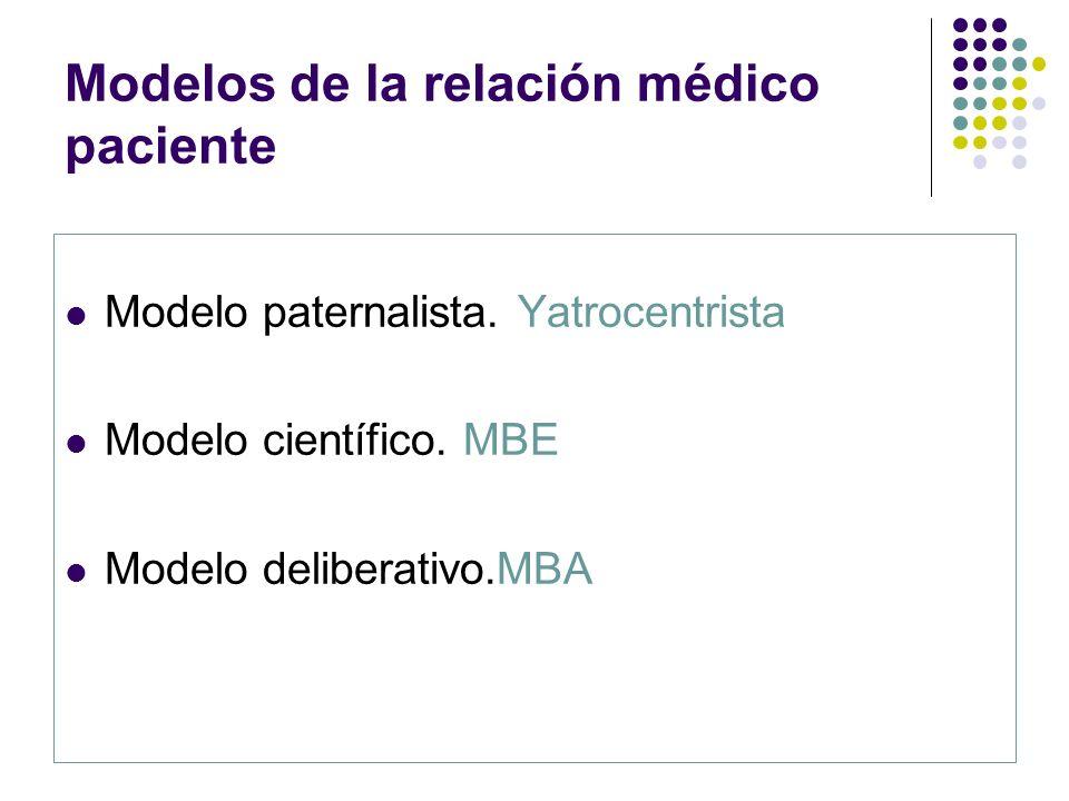 Modelos de la relación médico paciente