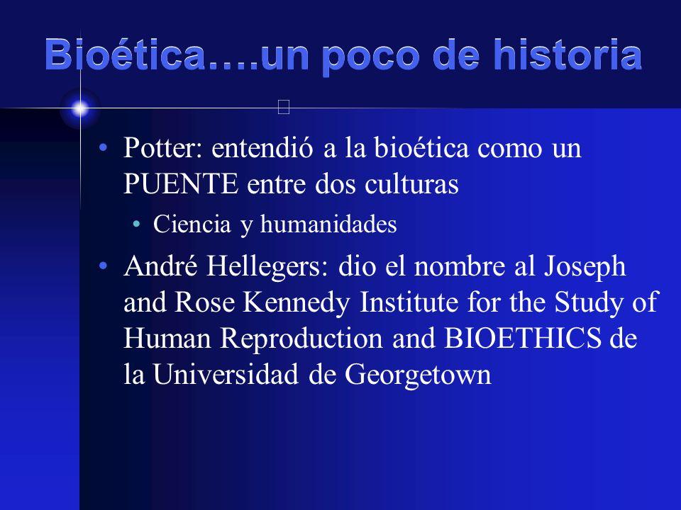 Bioética….un poco de historia