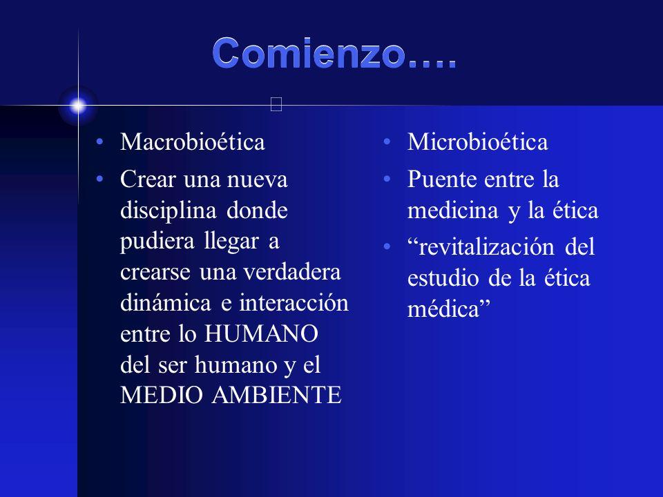 Comienzo…. Macrobioética