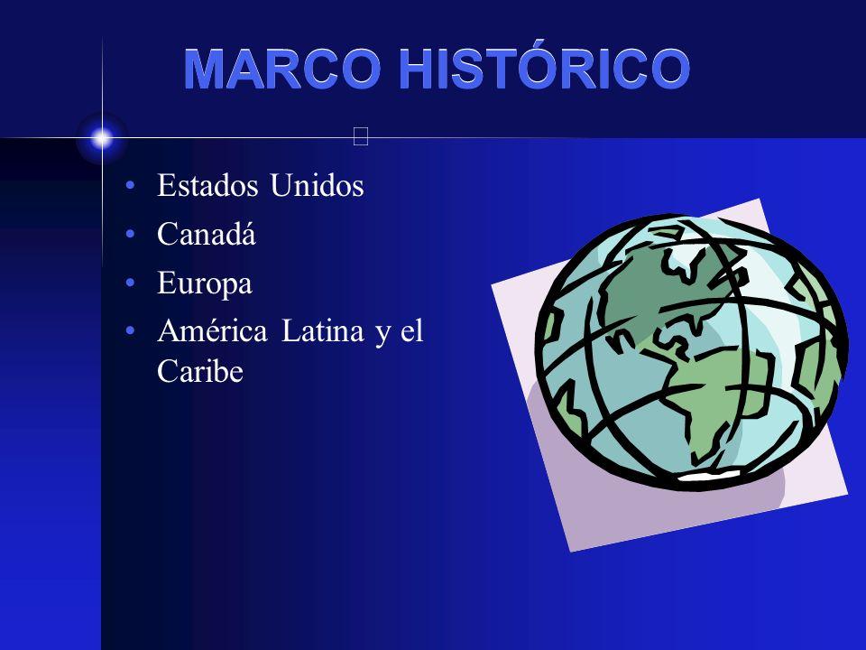 MARCO HISTÓRICO Estados Unidos Canadá Europa