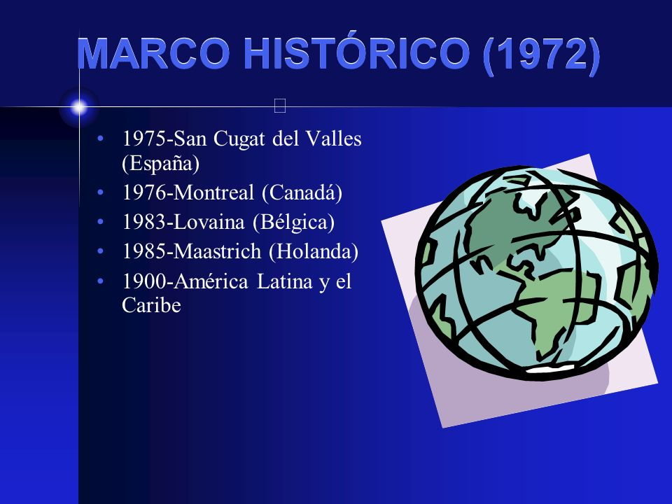 MARCO HISTÓRICO (1972) 1975-San Cugat del Valles (España)