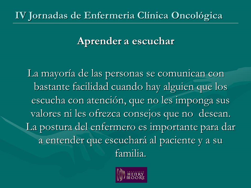 IV Jornadas de Enfermeria Clínica Oncológica