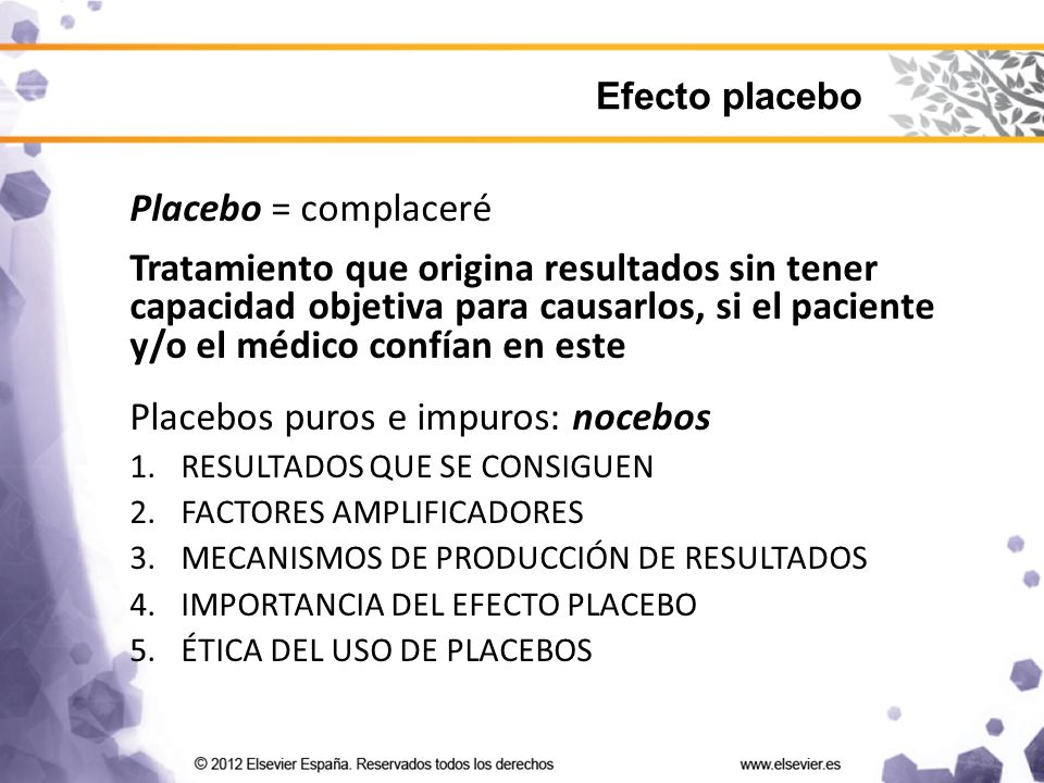 Placebos puros e impuros: nocebos