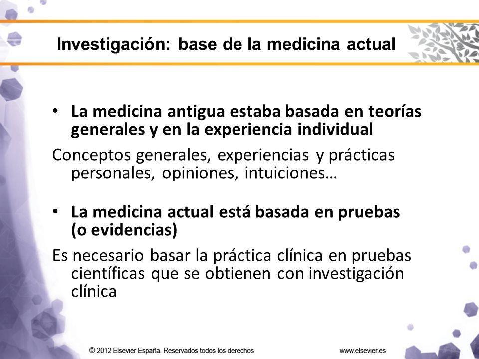 La medicina actual está basada en pruebas (o evidencias)
