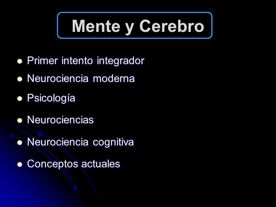 Mente y Cerebro Primer intento integrador Neurociencia moderna