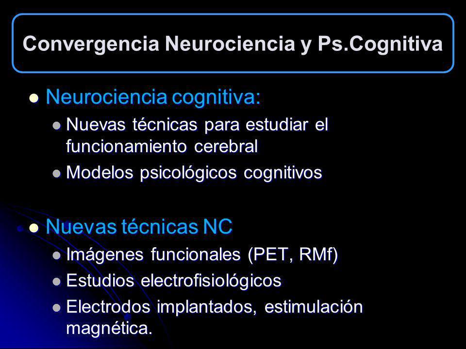 Convergencia Neurociencia y Ps.Cognitiva