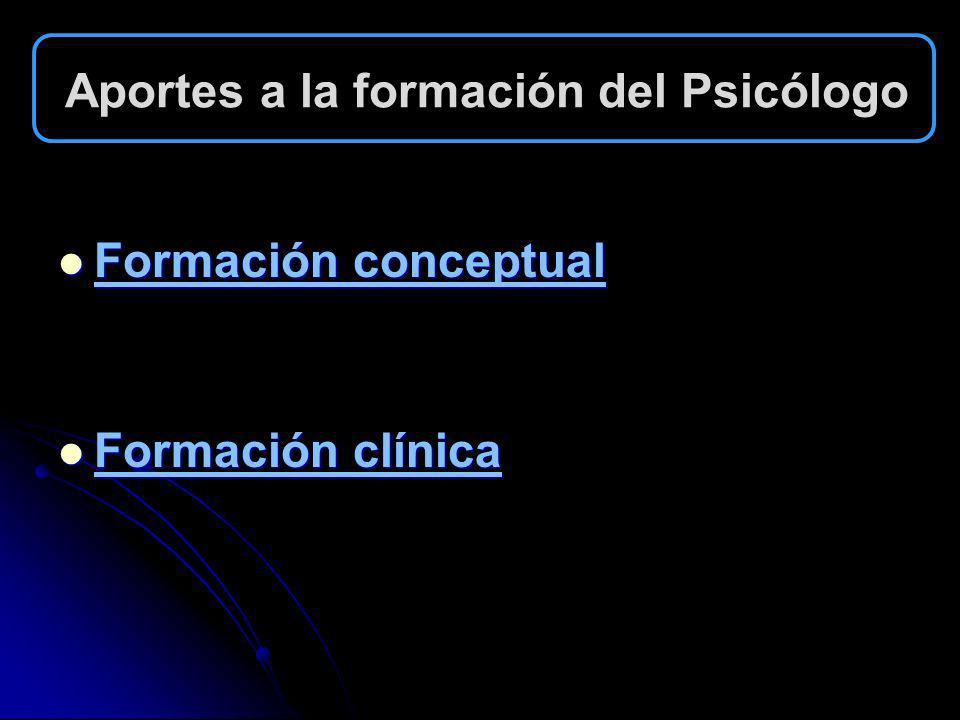 Aportes a la formación del Psicólogo