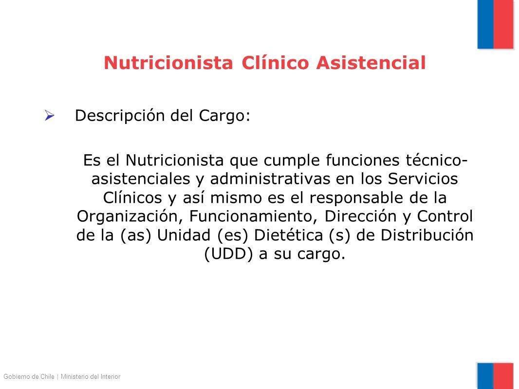 Nutricionista Clínico Asistencial