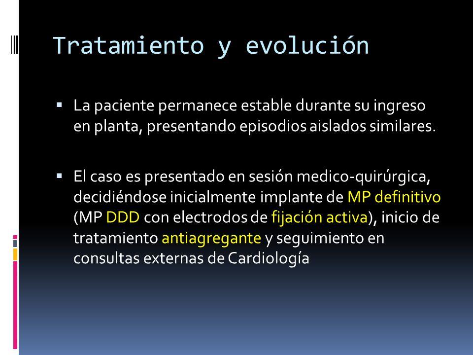 Tratamiento y evolución