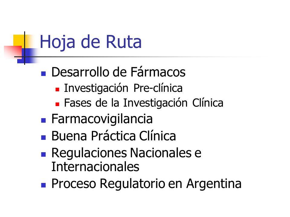 Hoja de Ruta Desarrollo de Fármacos Farmacovigilancia