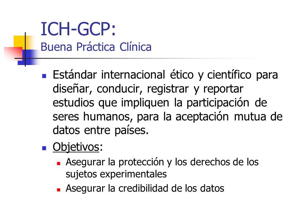 ICH-GCP: Buena Práctica Clínica