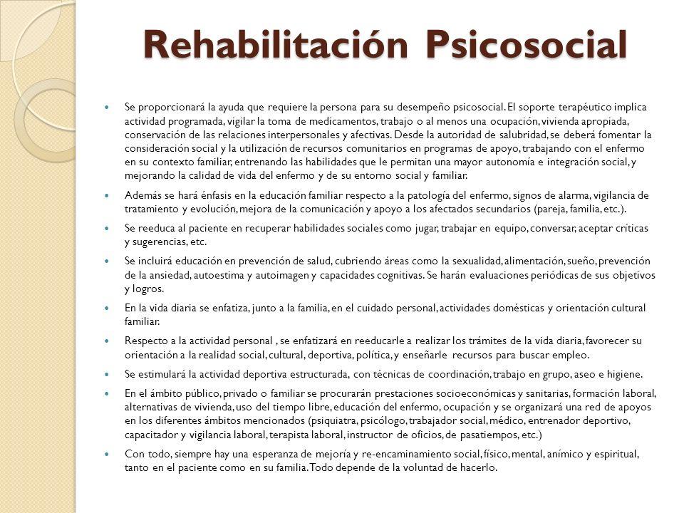 Rehabilitación Psicosocial