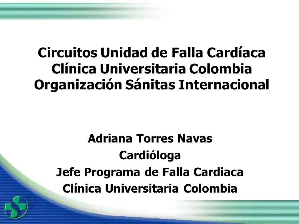 Jefe Programa de Falla Cardiaca Clínica Universitaria Colombia
