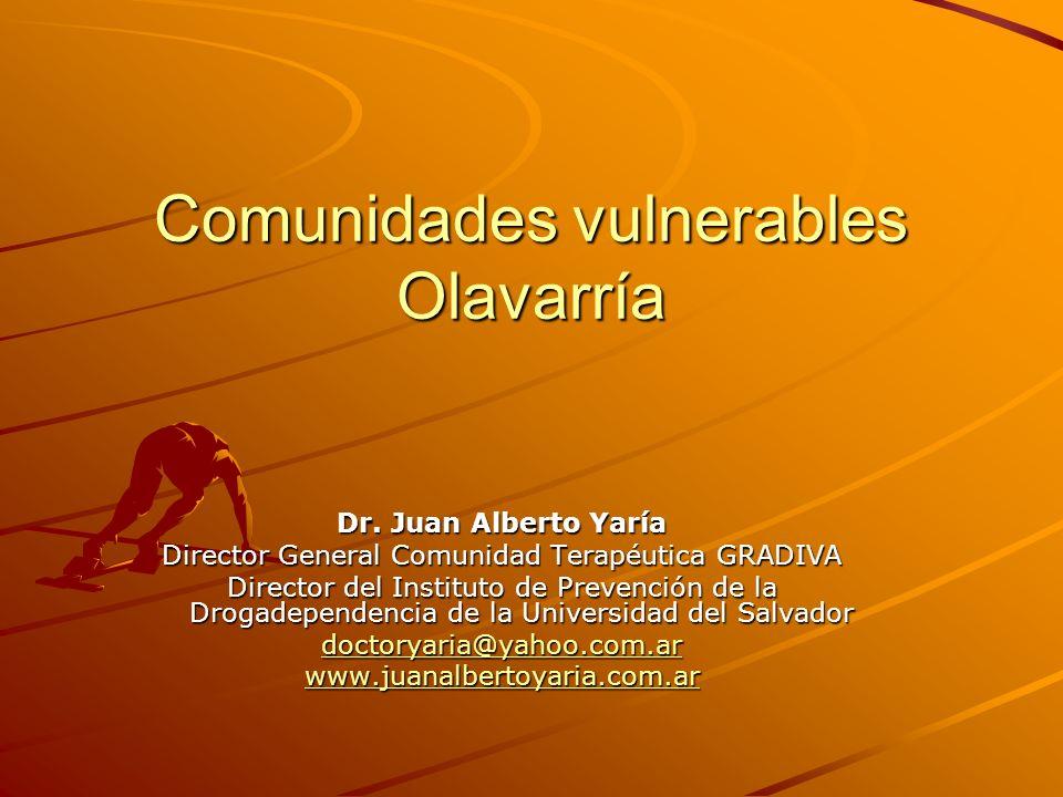 Comunidades vulnerables Olavarría