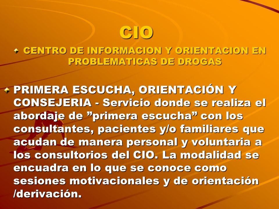CENTRO DE INFORMACION Y ORIENTACION EN PROBLEMATICAS DE DROGAS