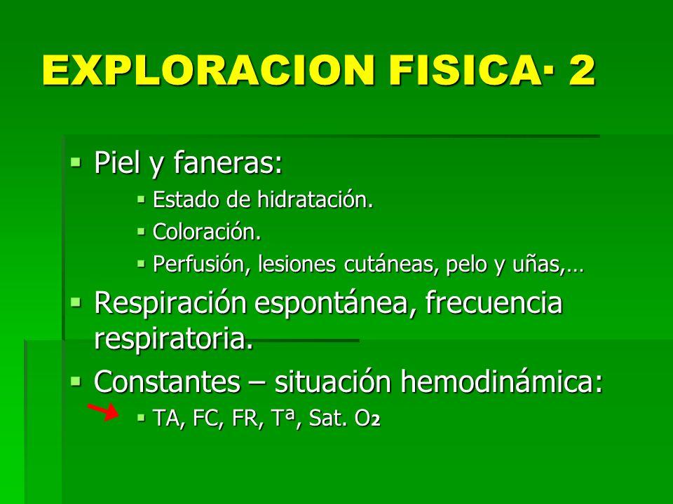 EXPLORACION FISICA· 2 Piel y faneras:
