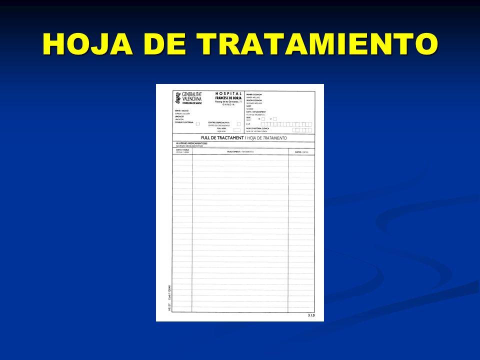 HOJA DE TRATAMIENTO
