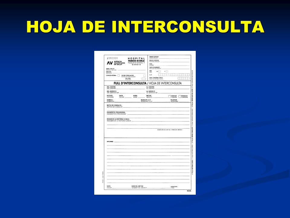 HOJA DE INTERCONSULTA