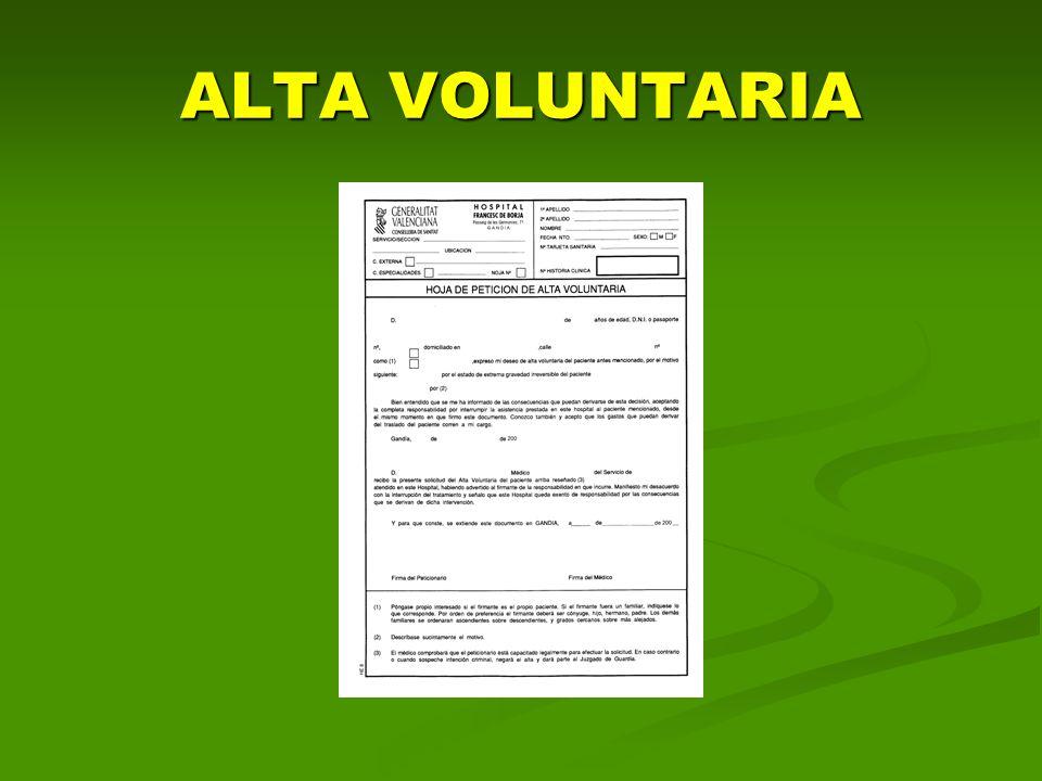 ALTA VOLUNTARIA