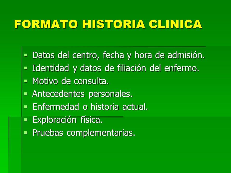 FORMATO HISTORIA CLINICA