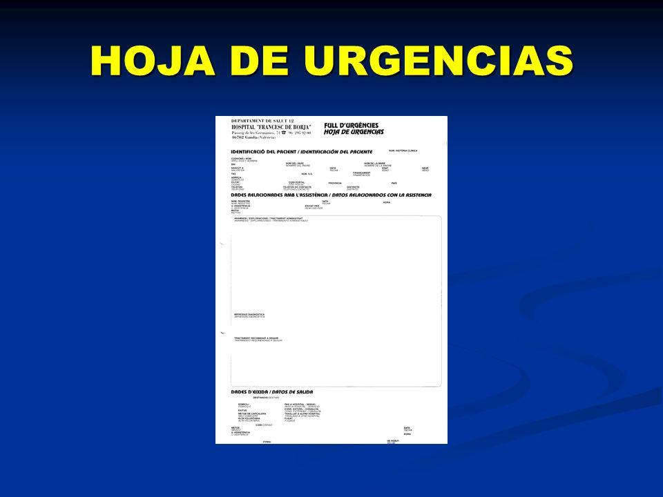 HOJA DE URGENCIAS