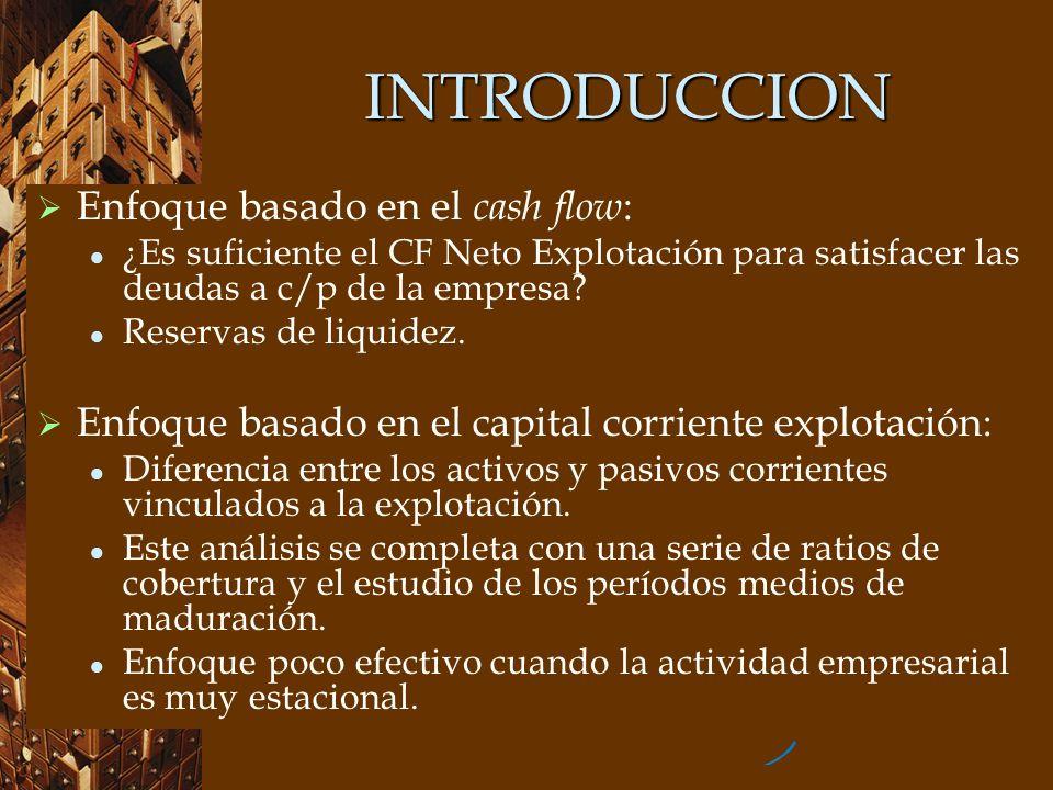 INTRODUCCION Enfoque basado en el cash flow:
