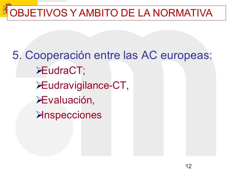 5. Cooperación entre las AC europeas: