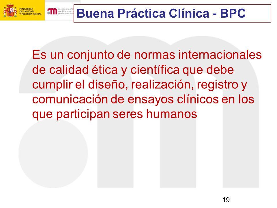 Buena Práctica Clínica - BPC
