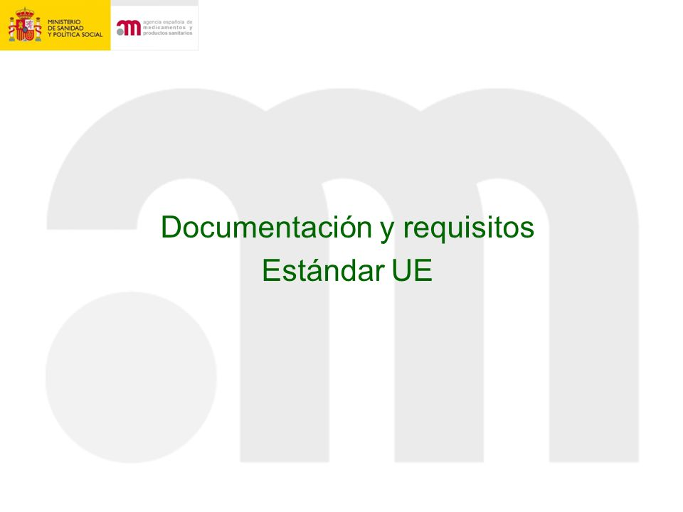 Documentación y requisitos