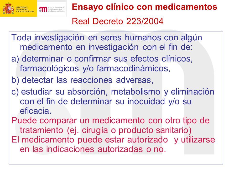 Ensayo clínico con medicamentos